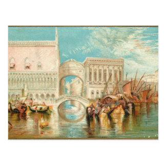 Die Brücke der Seufzer Venedig Postkarte