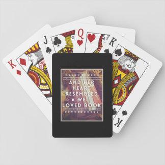 Die Buch-Liebhaber-Spielkarten Spielkarten