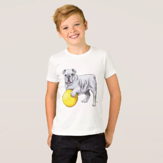 Die Bulldoggen-Illustrations-Shirt des Kindes T-Shirt