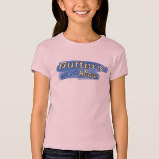 Die Butter der Mädchen kommt Zuhause-Titel-T - T-Shirt