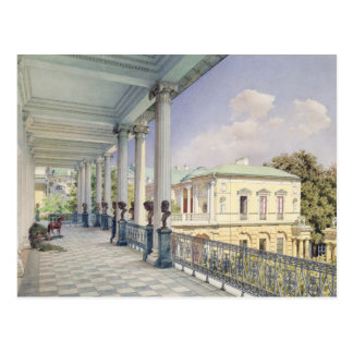 Die Cameron-Galerie bei Tsarskoye Selo, 1859 Postkarte