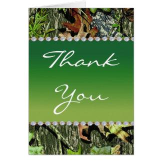 Die Camouflage, die Themed Hochzeit jagt, danken Karte