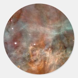 Die Carina-Nebelfleck-Marmor-Blick NASA Runder Aufkleber