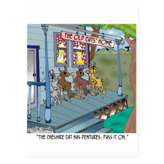 Die Cheshire-Katze hat Gebisse Postkarte