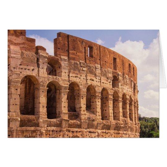 Die Colosseum Rom Gruß-Karte Karte