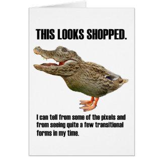 Die Crocoduck Täuschung Karte