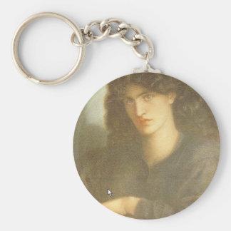 Die Dame des Mitleids durch Dante Gabriel Rossetti Standard Runder Schlüsselanhänger