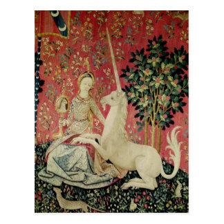 Die Dame und das Einhorn: 'Sight Postkarte