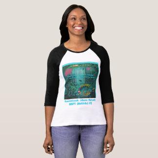 🐠 die Damenraglan-Galerie Unter-t abgenutztem T-Shirt