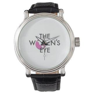 Die das Augen-Uhr der Frauen mit TWE Logo Uhren
