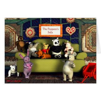 Die Das Sofa-Gruß-Karte der Marionetten Karte