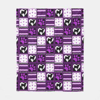 Die Decke des Flecken-Arbeits-Mops lila