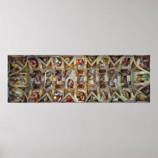 Die Decke des Sistine Kapellen-Plakats Poster