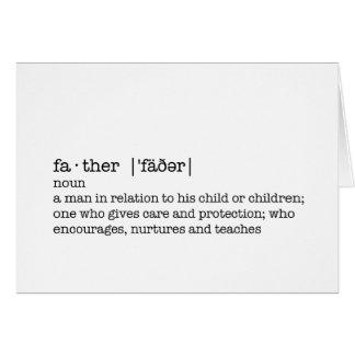 Die Definition eines Vaters; Bester Vati in der Karte