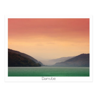 Die Donau Postkarte