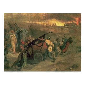 Die Dorf-Feuerwehrmänner, 1857 Postkarte