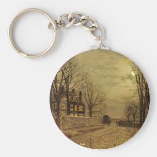 Die Drehung der Straße durch John Atkinson Schlüsselanhänger