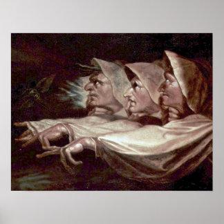 Die drei Hexen durch Henry Fuseli Poster
