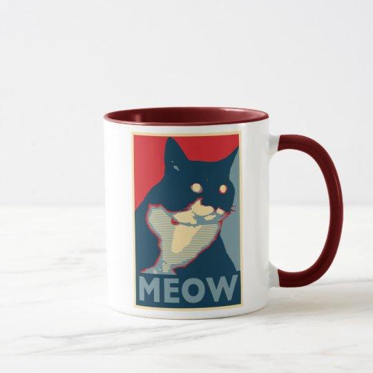 Die Dreistigkeit der Meow-Tasse Tasse