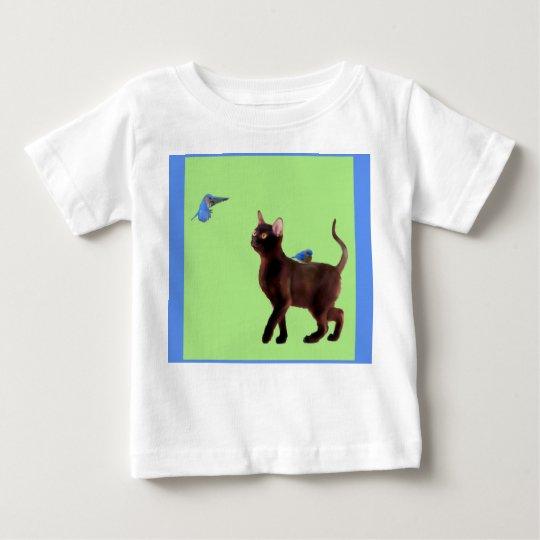 Die Drossel des T - Shirt des Glück-Kindes