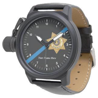 Die dünne Blue Line-Hilfssheriff-Uhr Uhr
