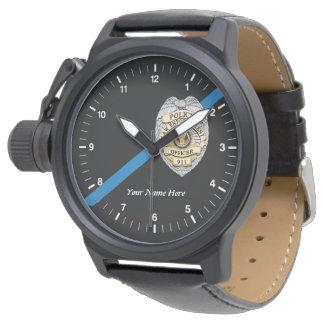 Die dünne Blue Line-Polizeibeamte-Uhr Armbanduhr