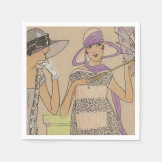 Die Dusche des Frühjahr-Prallplatten-Mädchens Papierserviette
