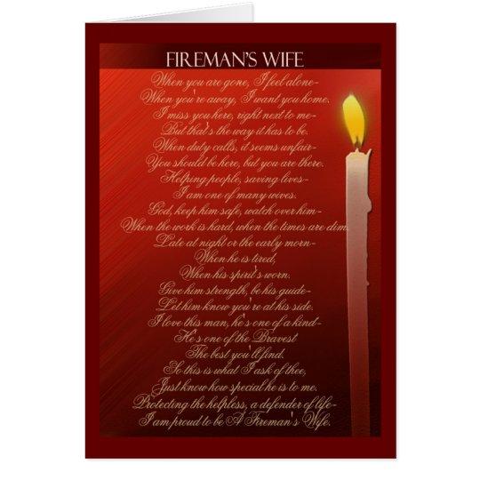 Die Ehefrau des Feuerwehrmannes… Grußkarte