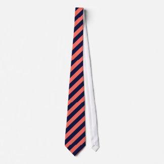 Die einzige Marine und die korallenrote gestreifte Individuelle Krawatte