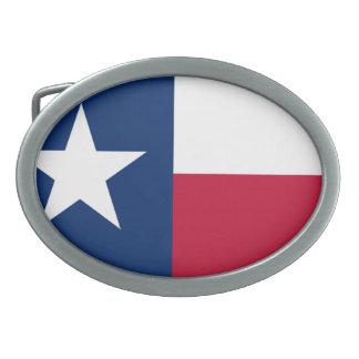 Die einzige Stern-Flaggen-Texas-Flagge Ovale Gürtelschnallen