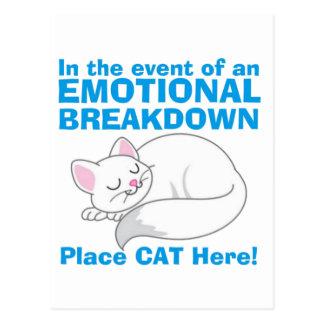 Die emotionaler Zusammenbruch-Katze Postkarte