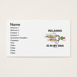 Die Entspannung ist in meiner DNS Visitenkarten
