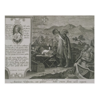 Die Entwicklung des Astrolabe des Seemannes Postkarte