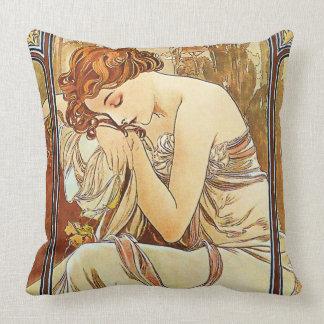 Die Erholung Vintages Nouveau der Nacht durch Kissen