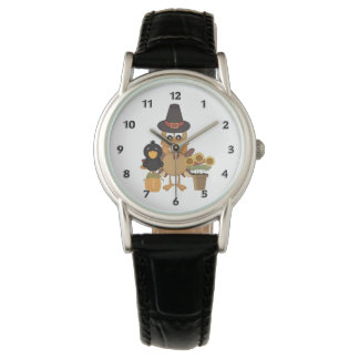 Die Erntedank-Türkei-Freunde Armbanduhr