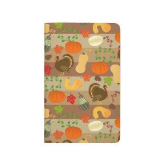 Die Erntedank-Türkei-Kürbis-Herbst-Ernte-Muster Taschennotizbuch