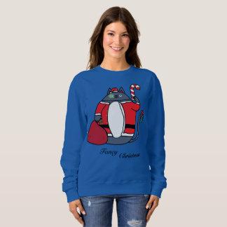 Die extravagante Strickjacke der Weihnachtsfrauen Sweatshirt