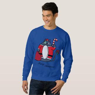 Die extravagante Strickjacke der Weihnachtsmänner Sweatshirt