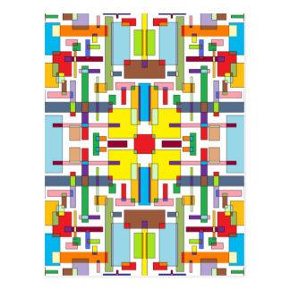 Die Farbe von Gefühl II - Farbkunst Postkarte