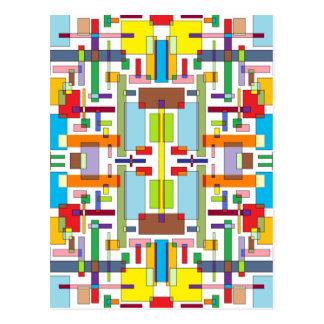 Die Farbe von Gefühl III - Farbkunst Postkarte