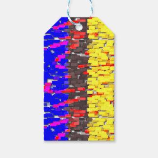 Die farbigen Gebäude-Blöcke Geschenkanhänger