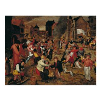 Die Feuer von St Martin Postkarte