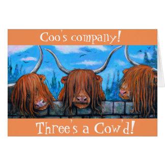 Die Firma des Gurrens, drei ein cow'd. Karte