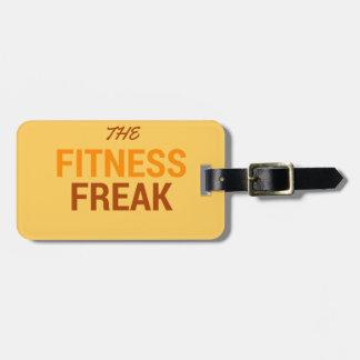 Die Fitness Freak-Orange Gepäckanhänger