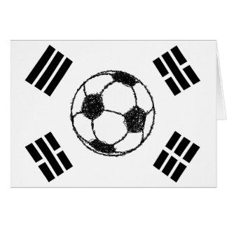 Die Flagge der Fußball-Skizze Südkoreas | Karte