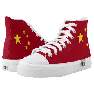 Die Flagge der Volksrepublik China Hoch-geschnittene Sneaker
