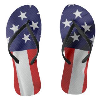 Die Flagge des USA Flip Flops