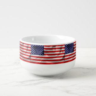 Die Flagge des USA Große Suppentasse