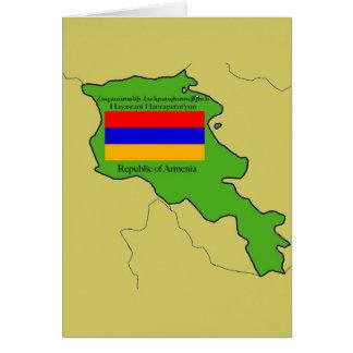 Die Flagge und die Karte von Armenien