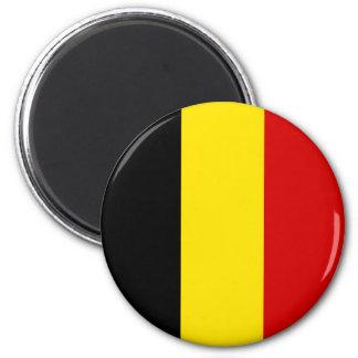 Die Flagge von Belgien Runder Magnet 5,1 Cm